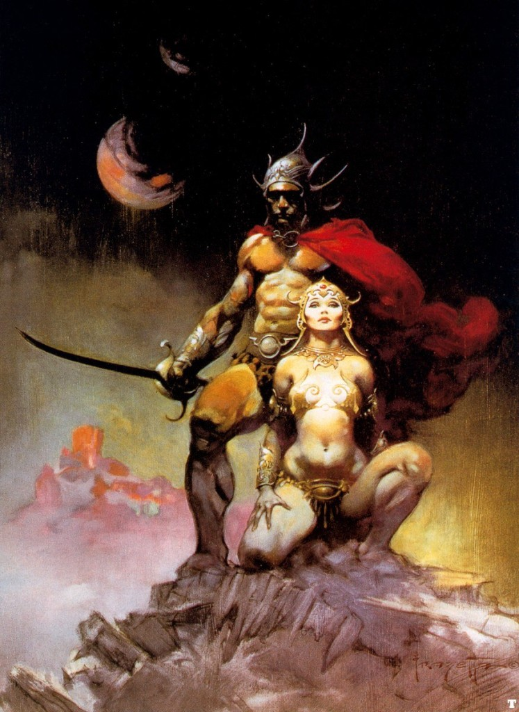 Fantasy Art: A FIGHTING MAN OF MARS by Frank Frazetta