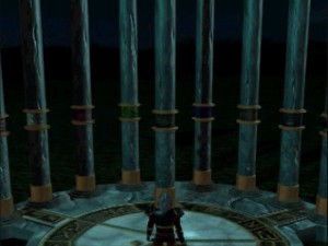 The nine pillars, from left to right: mind, dimension, conflct, nature, balance, energy, time, states and death.