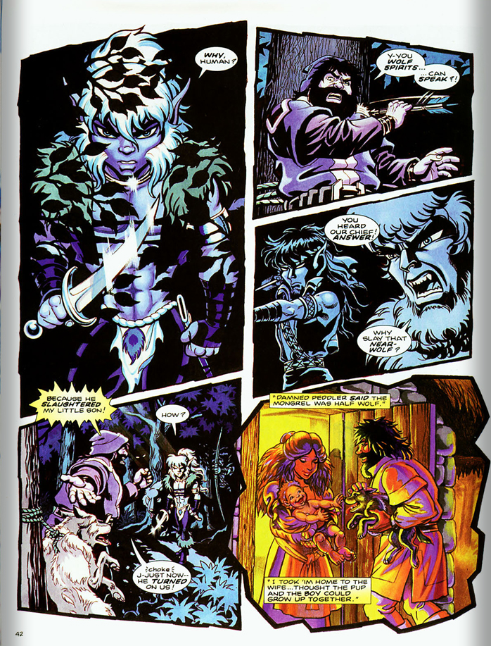 I have always been a fan of Pini's Elfquest but her short story is too emotional and possibly too dense for the rest of the material in this first issue.