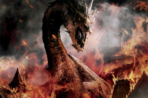 I am not going to ruin anything but don't get too attached to Smaug in the third movie.
