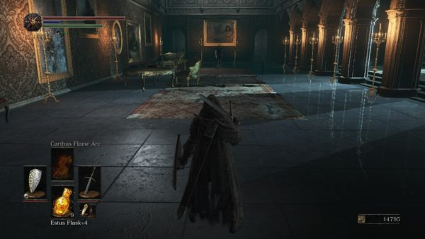 While I appreciate the aesthetic of two lone knights duelling in a long marble room, experience tells me i'm already fucked.