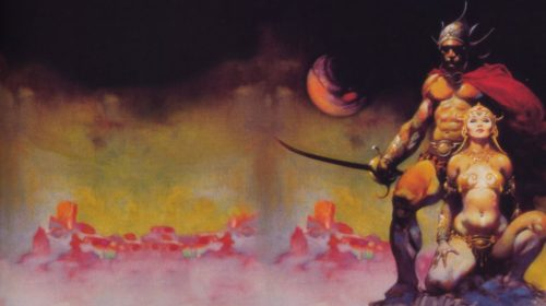 A FIGHTING MAN OF MARS by Frank Frazetta