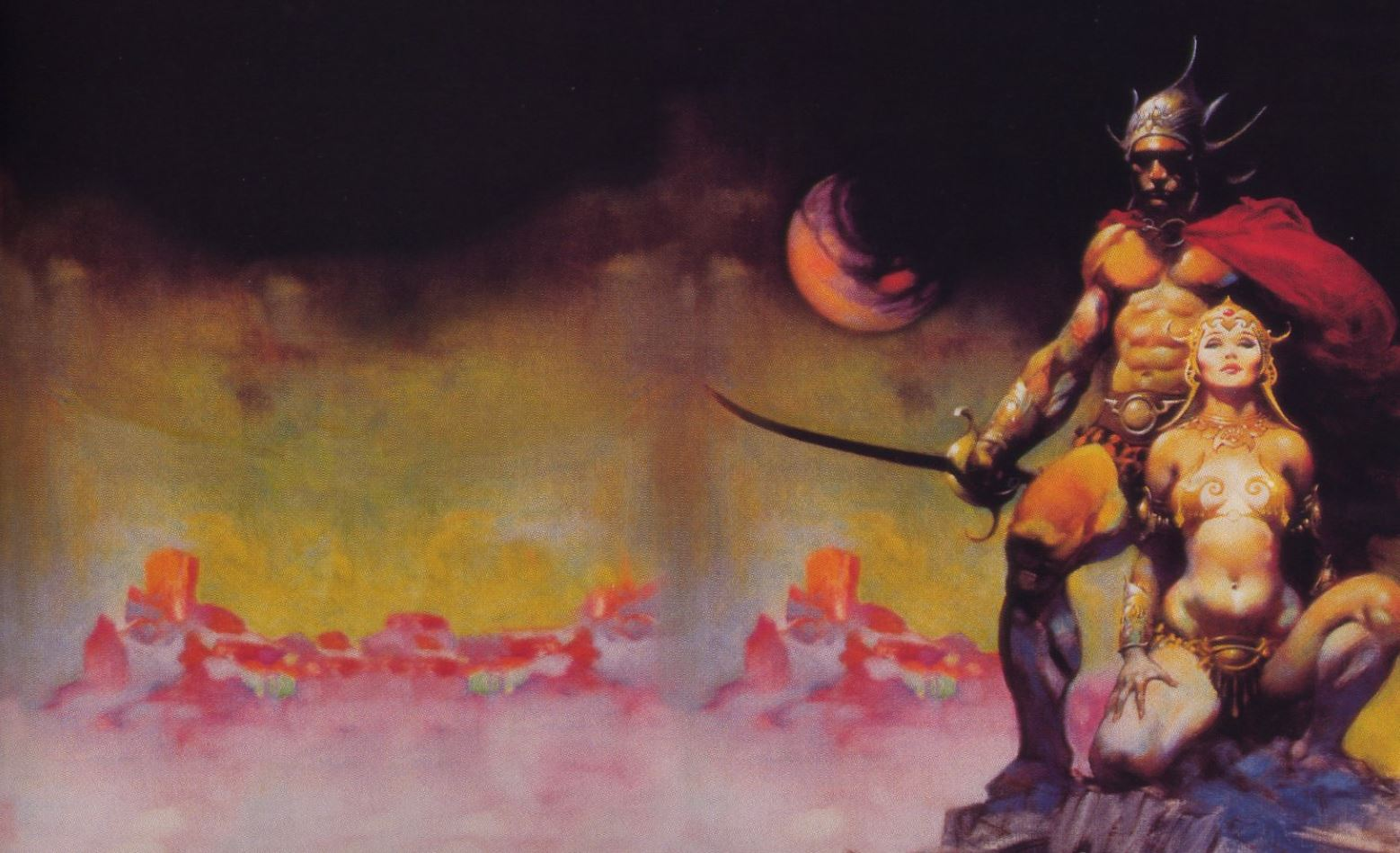 A FIGHTING MAN OF MARS by Frank Frazetta