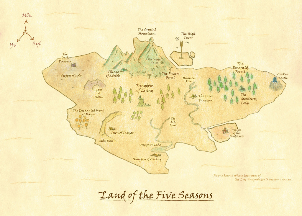 Erang - Tome X - Map of the Land of the Five Seasons