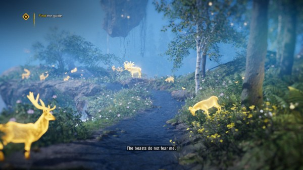 It's a far Cry game, so of course there's a section where you choke down a fistful of drugs and hang out with magical deer.