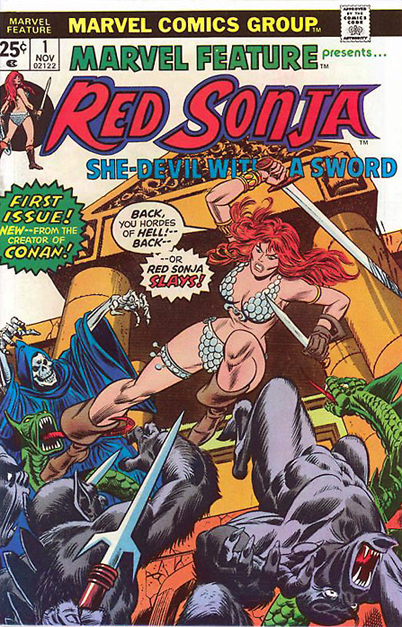 Marvel Feature: RED SONJA  #1-7 (1975-1976)