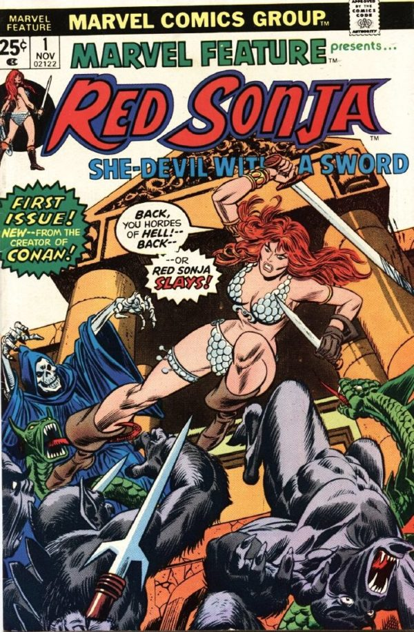 red sonja comic book