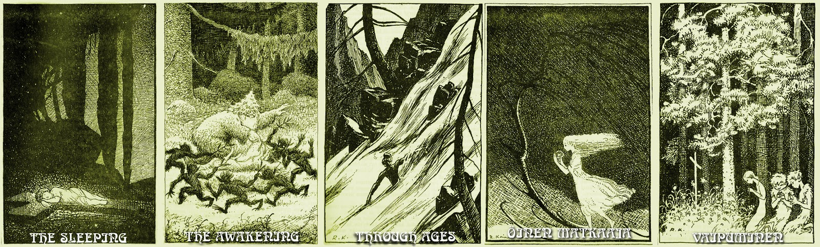 The Sleeping Green - track illustrations